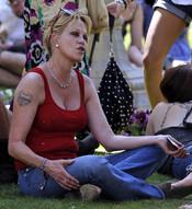 Melanie Griffith disfruta del festival de música hippie