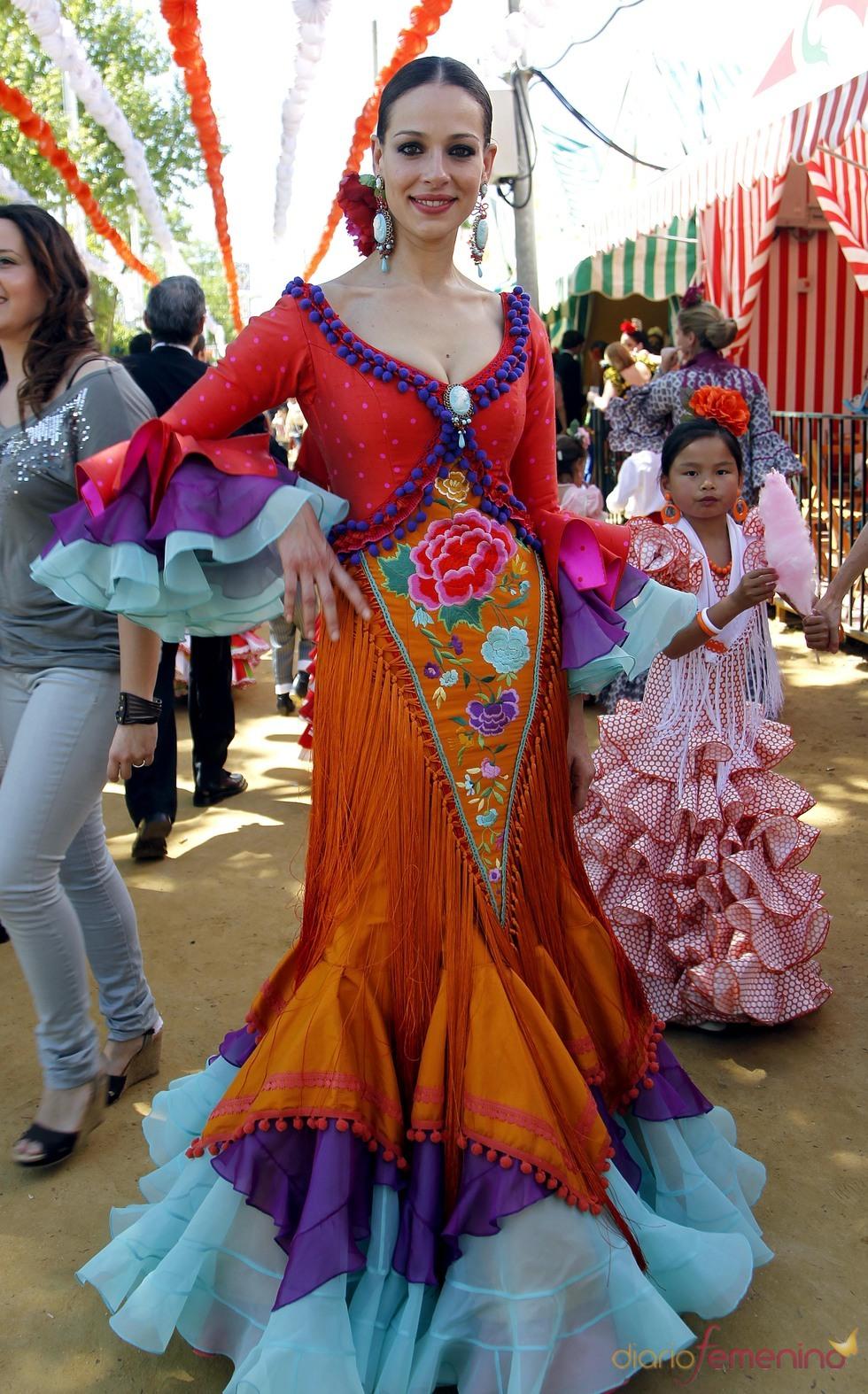 Eva González en la Feria de Abril