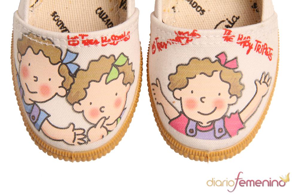 Zapatillas con dibujo infantil de Victoria