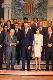 Samaranch con los Príncipes de Asturias