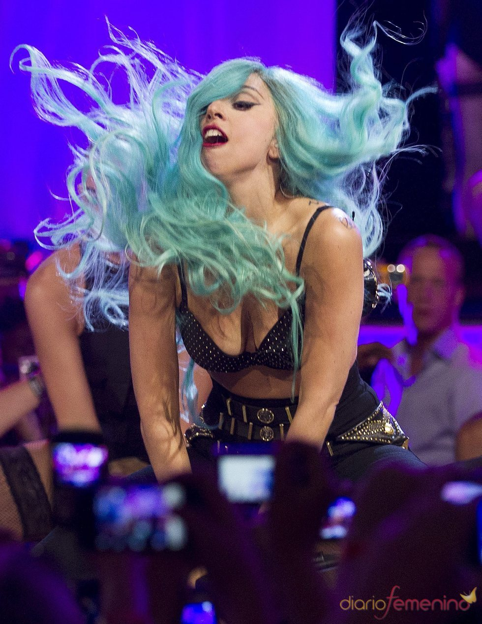 Lady Gaga durante su actuación en los MuchMusic Video Awards 2011