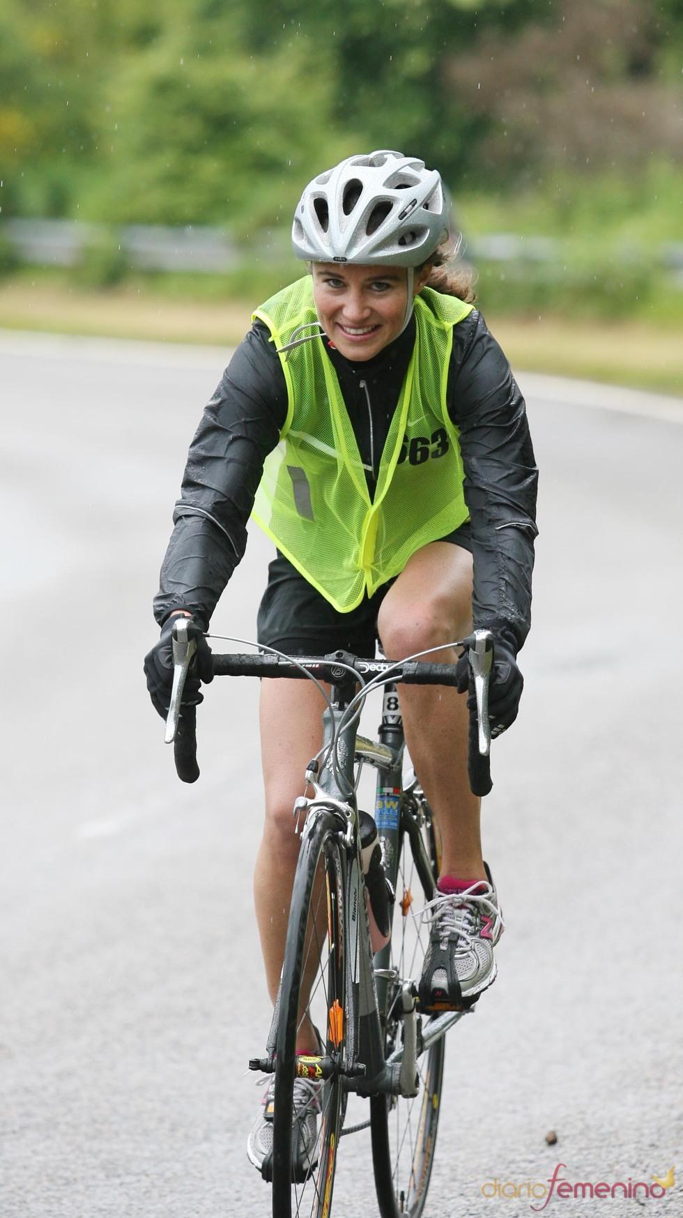 Pippa Middleton durante su participación en un duathlon