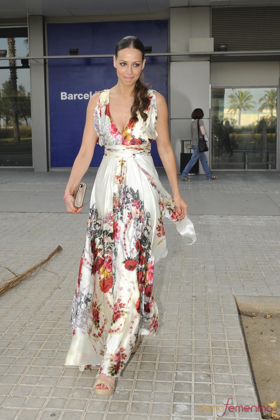 Eva González en la boda de Luis Rollán