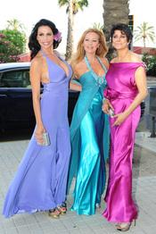 Toñi Salazar, Ana Obregón y María Pineda en la boda de Luis Rollán