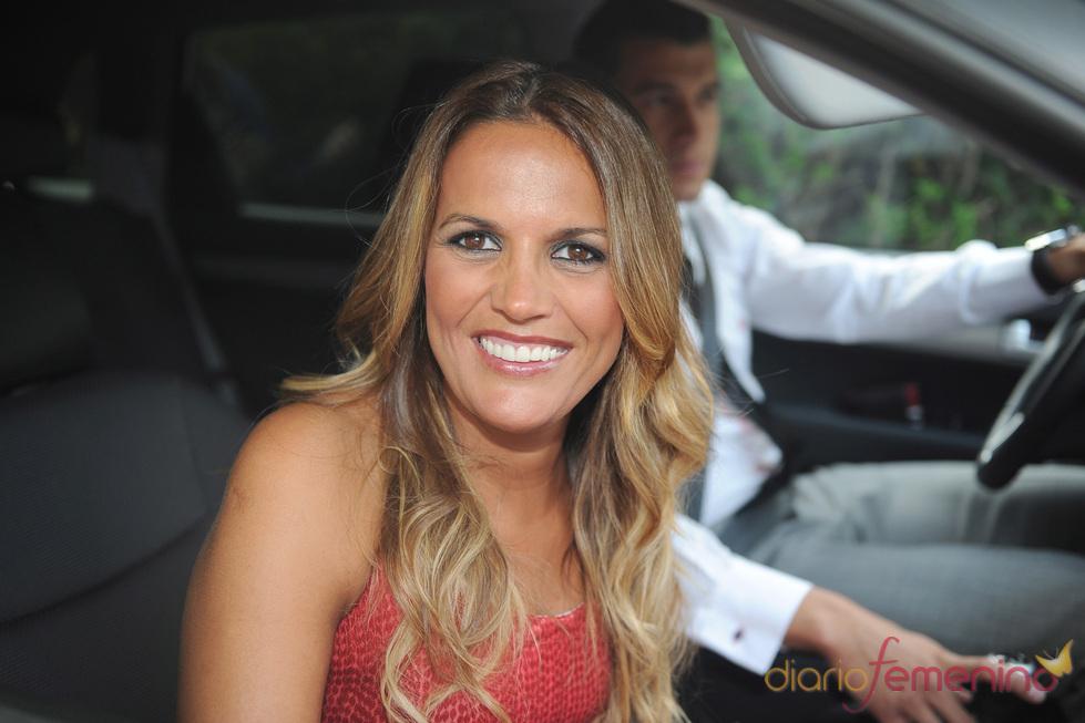Marta López en la boda de Luis Rollán