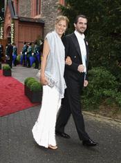 El Príncipe Nicolás de Grecia y Tatiana Blatnik en la boda de Natalia de Dinamarca y Alexander Johannsmann