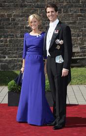 El Príncipe Pablo de Grecia y Marie Chantal en la boda de Natalia de Dinamarca y Alexander Johannsmann