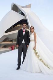 Raúl Albiol se casa con su novia Alicia Roig en Valencia