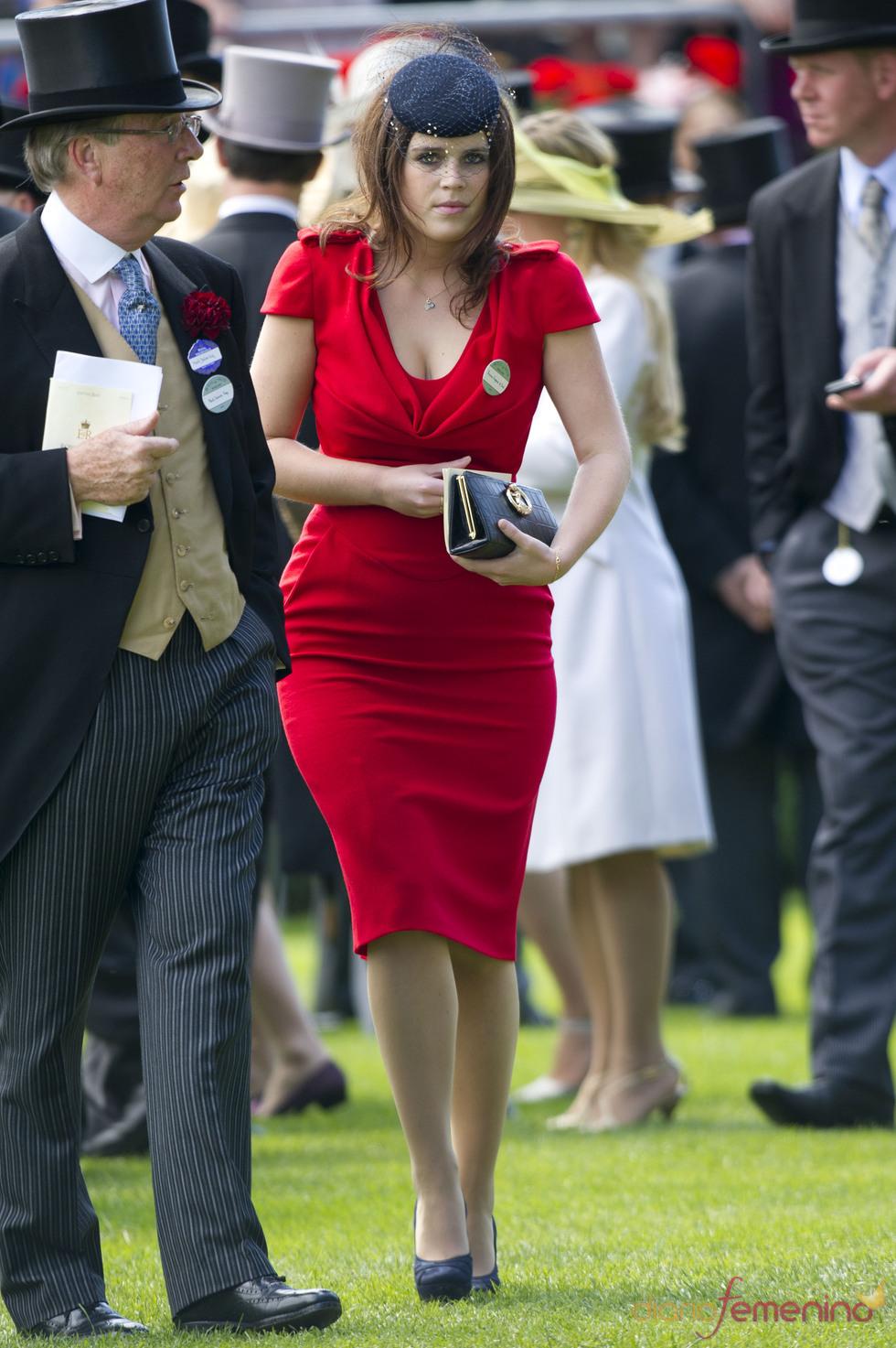 Beatriz de York en la clausura de las carreras de caballos de Ascot