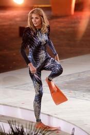 Heidi Klum durante la grabación del '¿Qué apostamos?' alemán