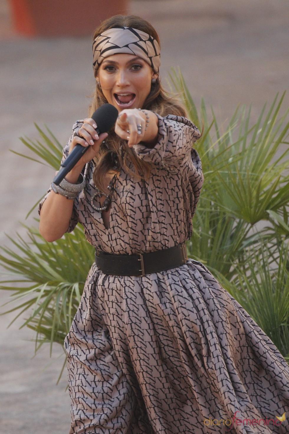 Jennifer Lopez canta en el '¿Qué apostamos?' alemán