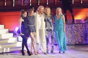 Jennifer Lopez, Cameron Diaz, Thomas Gottschalk, Heidi Klum y Michelle Hunziker graban el '¿Qué apostamos?' alemán