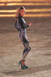 Heidi Klum participa en la grabación del '¿Qué apostamos?' alemán