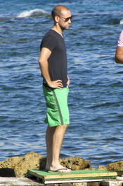 Gonzalo Miró de vacaciones en Ibiza