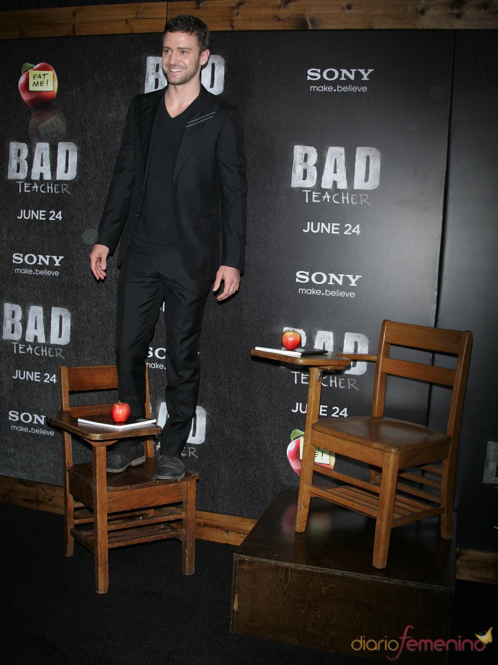 Justin Timberlake en el estreno de 'Bad teacher' en Nueva York