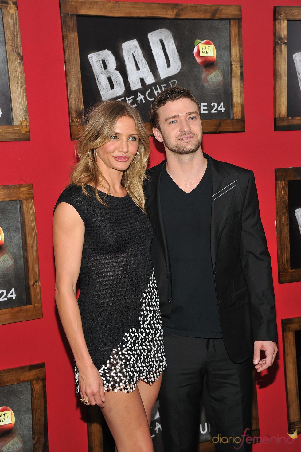 Cameron Diaz y Justin Timberlake en el estreno de 'Bad teacher' en Nueva York