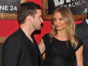 Miradas entre Justin Timberlake y Cameron Diaz en el estreno de 'Bad teacher' en Nueva York
