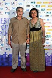 Carlos Iglesias y Eloísa en la Fiesta del Cine español