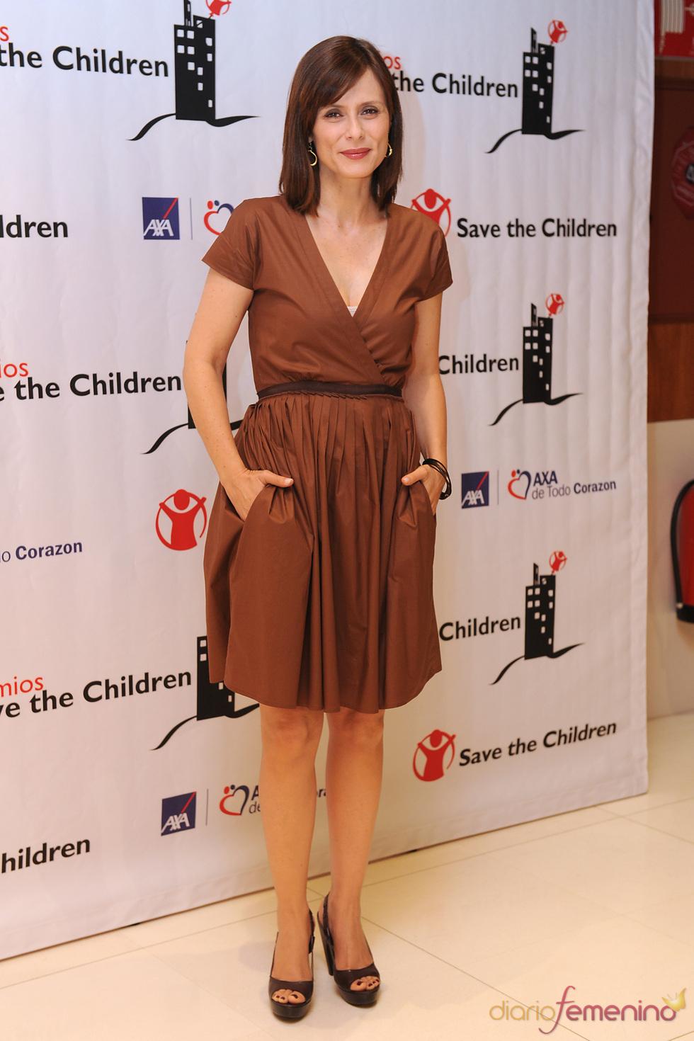 Aitana Sánchez Gijón en los premios Save the children 2011