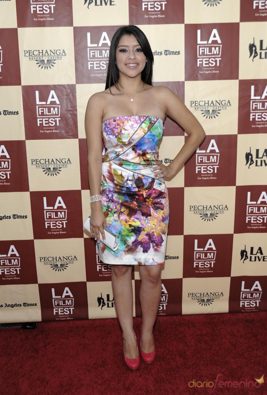 Chelsea Rendon en la proyección de 'A better life' en Los Ángeles