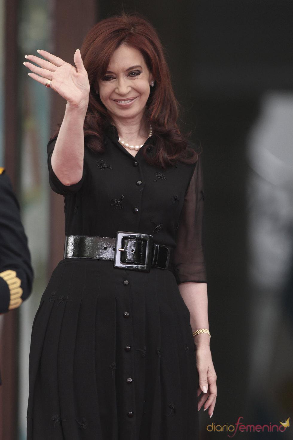 Cristina Fernández sufre un pequeño corte en la cabeza