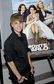 Justin Bieber apoya a Selena Gomez en la 'premiere' de 'Monte Carlo' en Nueva York