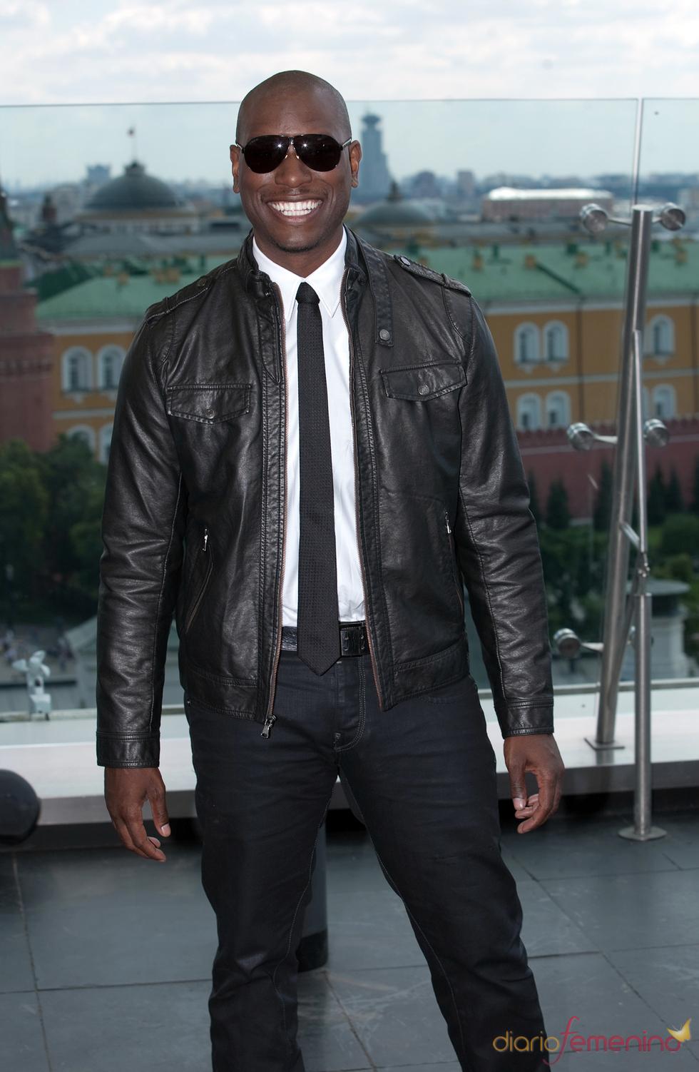 Tyrese Gibson en el photocall de la premier de 'Transformers 3' en Moscú