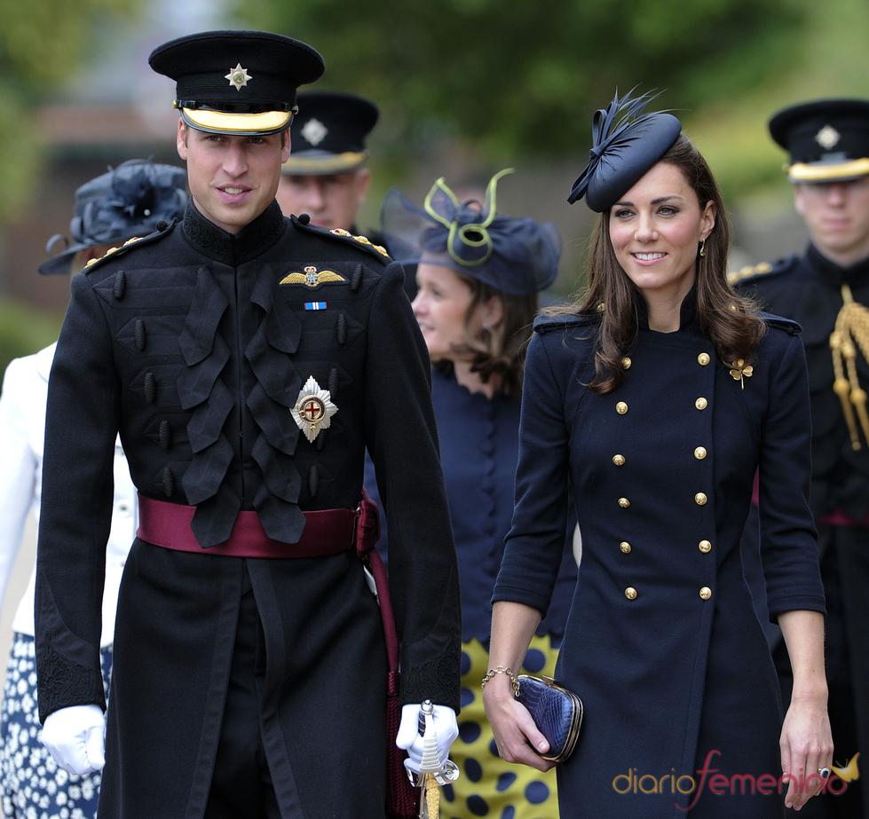 El príncipe Guillermo y Catalina Middleton en el Desfile de la Guardia Irlandesa