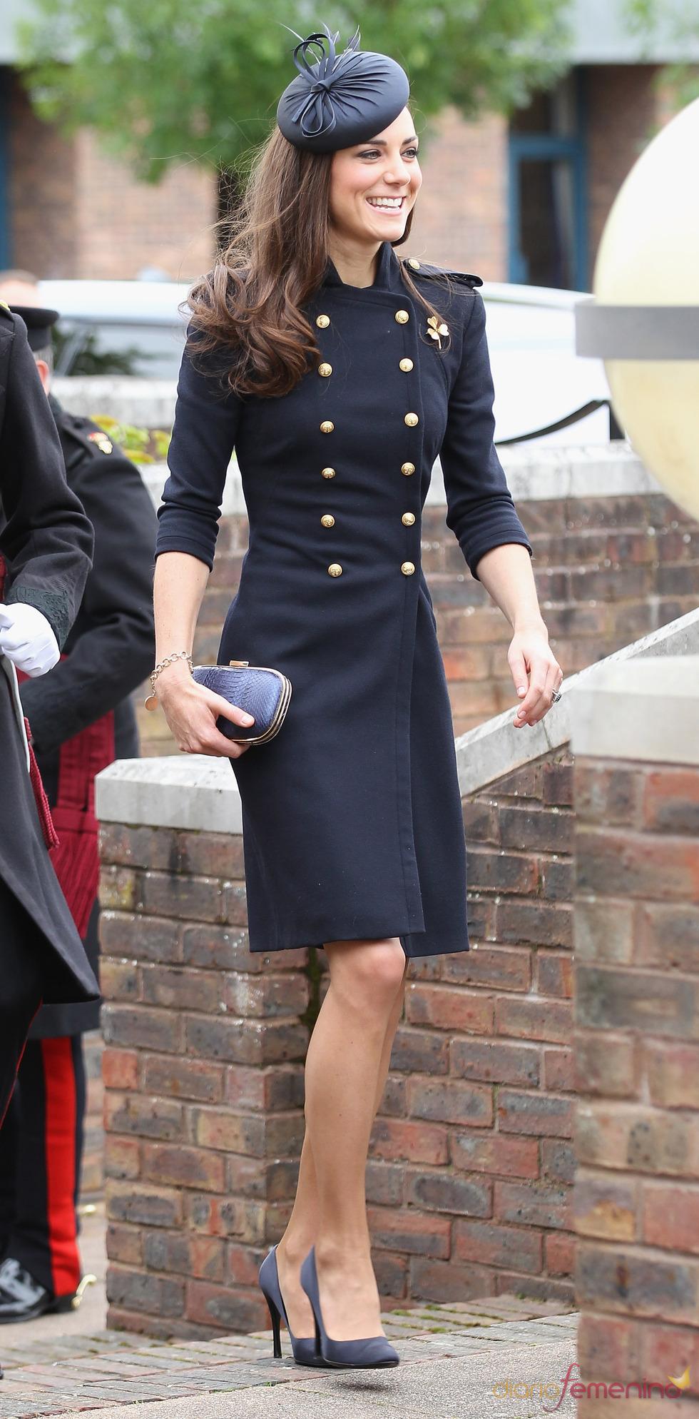 Catalina Middleton llega sonriente al desfile de la Guardia Irlandesa