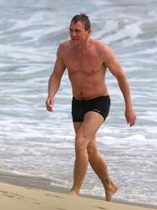 Daniel Craig, luciendo musculitos en San Bartolomé