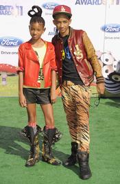 Willow y Jaden Smith a su llegada a los premios BET Awards 2011