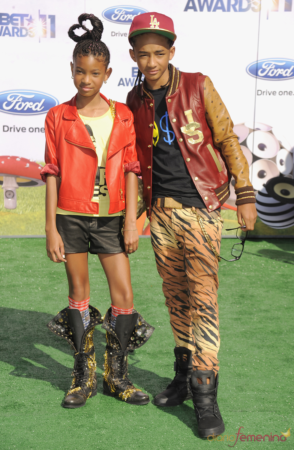 Willow y Jaden Smith a su llegada a los premios BET Awards 2011