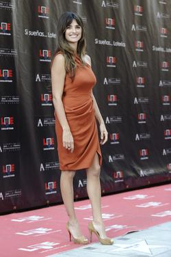 Penélope Cruz en el Paseo de la Fama de Madrid