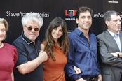 Penélope Cruz, Javier Bardem, Pedro Almodóvar en el Paseo de la Fama de Madrid