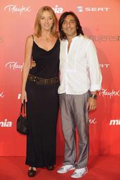 Antonio Carmona y Mariola Orellana en la fiesta del 25 aniversario de la revista Mia
