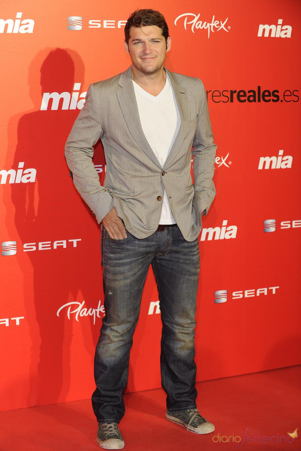 Manu Tenorio en la fiesta del 25 aniversario de la revista Mia