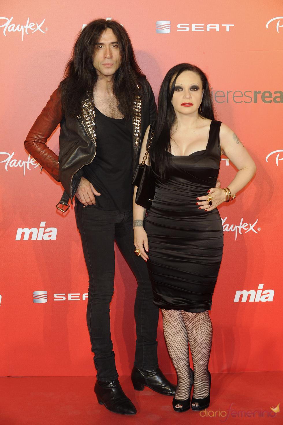 Alaska y Mario Vaquerizo en la fiesta del 25 aniversario de la revista Mia