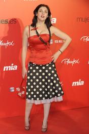 Espido Freire en la fiesta del 25 aniversario de la revista Mia