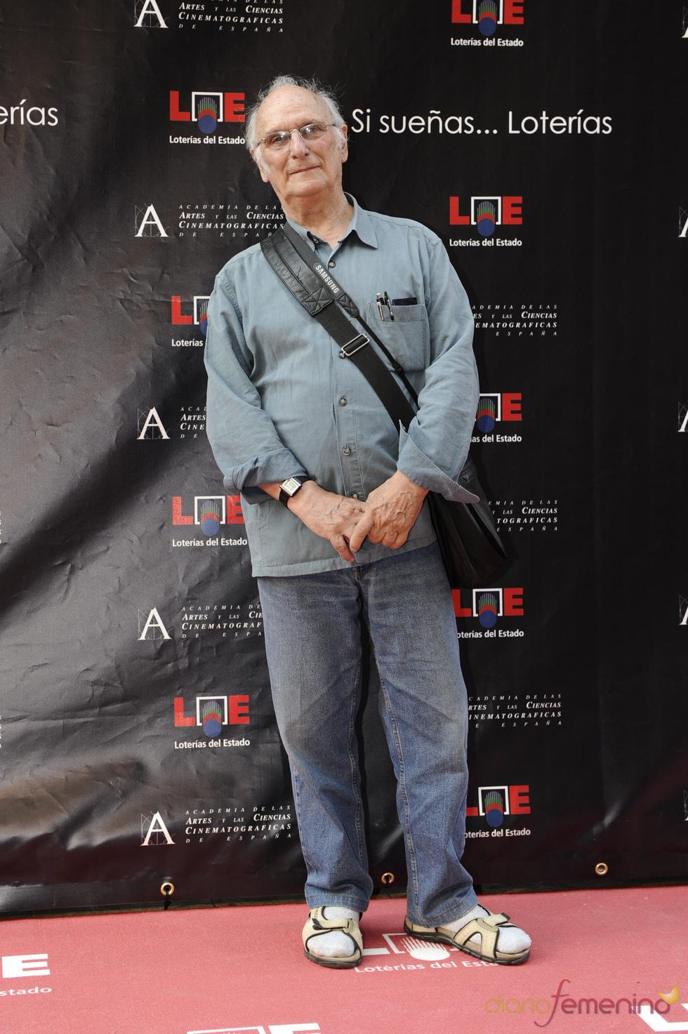 Carlos Saura en la inauguración del Paseo de la Fama de Madrid