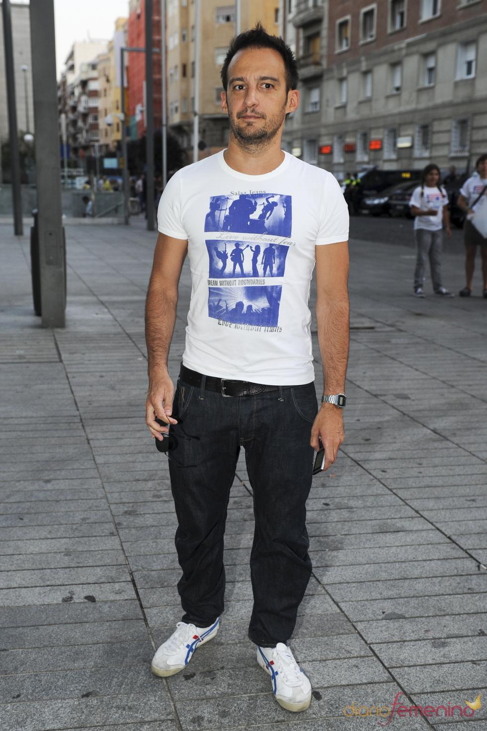 Alejandro Amenabar en el concierto de Ricky Martin en Madrid