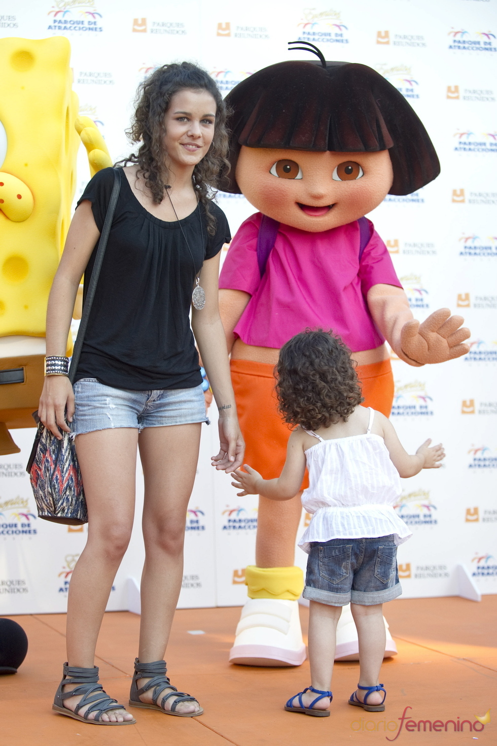 Sandra Blázquez en el Parque de Atracciones de Madrid