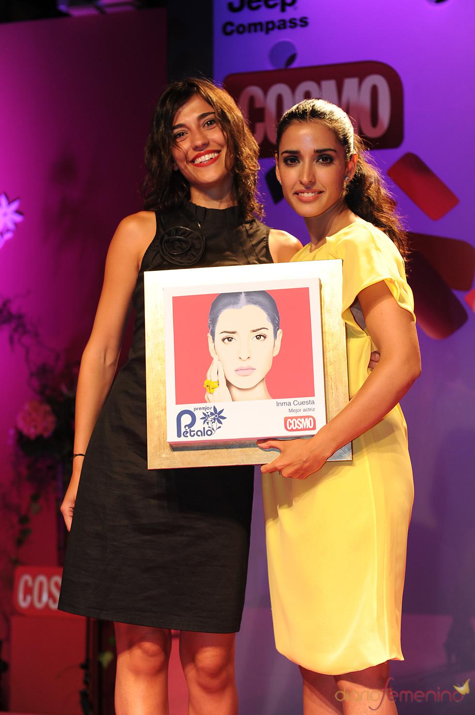 Inma Cuesta recoge su Premio Pétalo de Cosmopolitan 2011