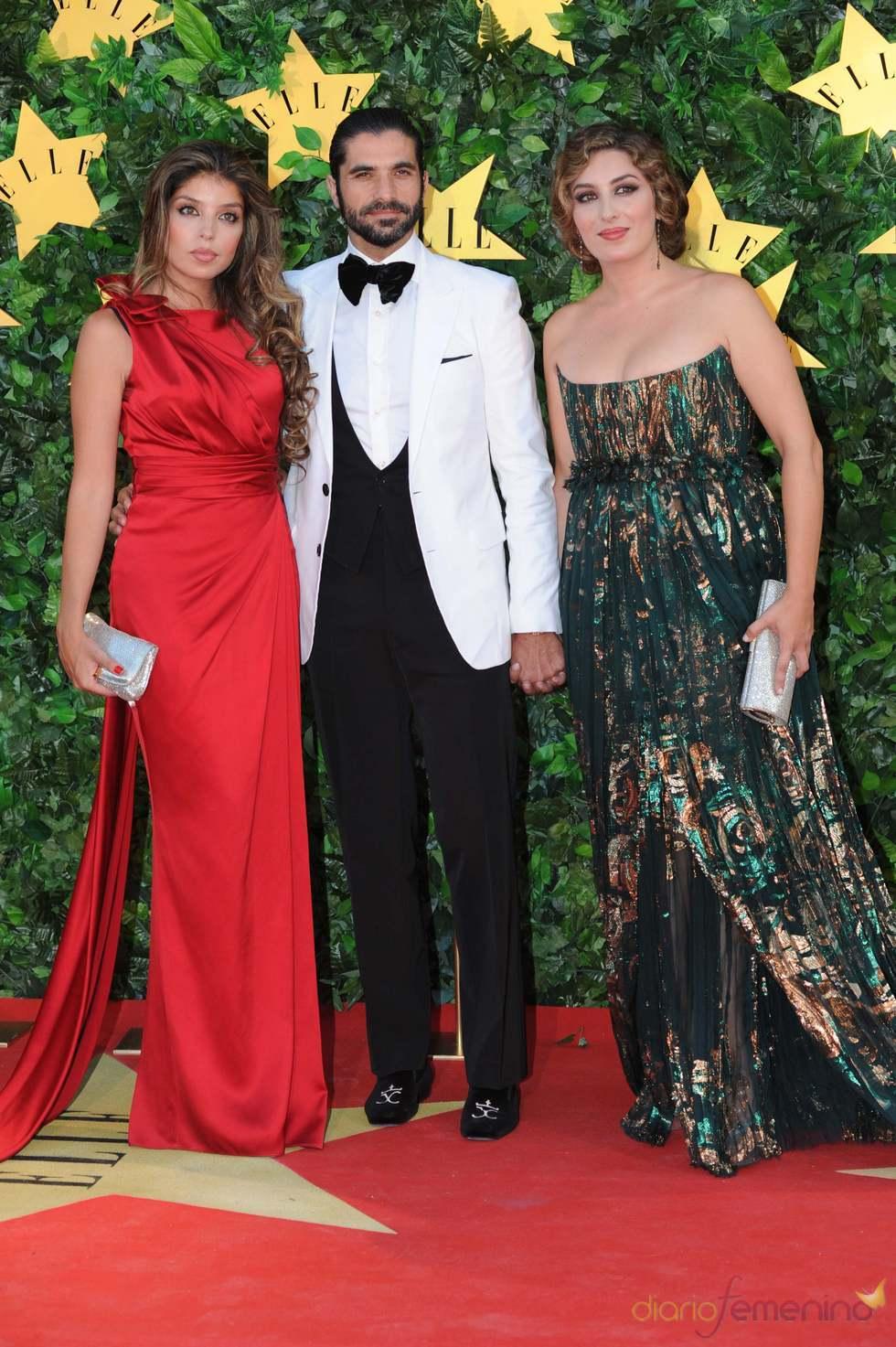 Estrella Morente, su marido y su hermana en la Fiesta 25 Aniversario de 'Elle'