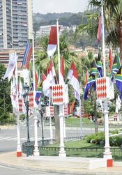 Las calles de Mónaco, decoradas para la Boda Real