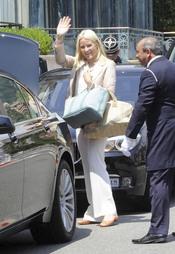 La princesa de Noruega Mette Marit llega a Mónaco para la Boda Real