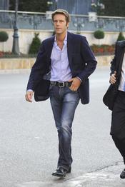 Filiberto de Saboya llega a Mónaco para la Boda Real