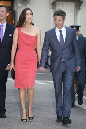 Federico y María de Dinamarca acuden al concierto de Jean Michel Jarre tras la Boda Real civil de Mónaco