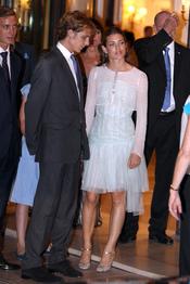 Andrea y Carlota Cashiragui de Mónaco acuden al concierto de Jean Michel Jarre tras la Boda Real civil de Mónaco