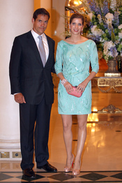 Luis Alfonso de Borbón y Margarita Vargas acuden al concierto de Jean Michel Jarre tras la Boda Real civil de Mónaco