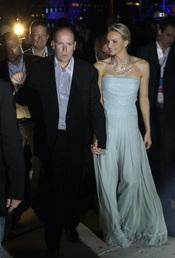 Alberto de Mónaco y Charlene Wittstock acuden al concierto de Jean Michel Jarre tras la Boda Real civil de Mónaco